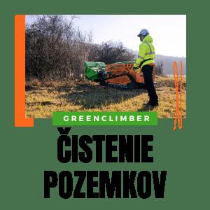 cistenie pozemkov svahovou kosačkou greenclimber